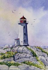 Peggy's Cove, Lighthouse, rocks