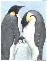 penguins, babies, Christmas