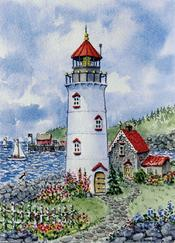 Harbor Scene, Lighthouse