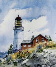 Sequin Island Light, lighthouse, Maine
