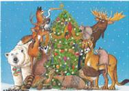 Whimsical Christmas Animals by Barbara Gibson