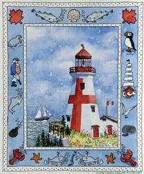 Bluenose, West Quoddy Light, lighthouse, sailboats