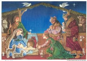 Nativity with the three kings